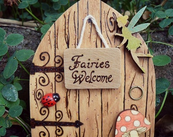 "Magical Fairy door ""Fairies Welcome"""