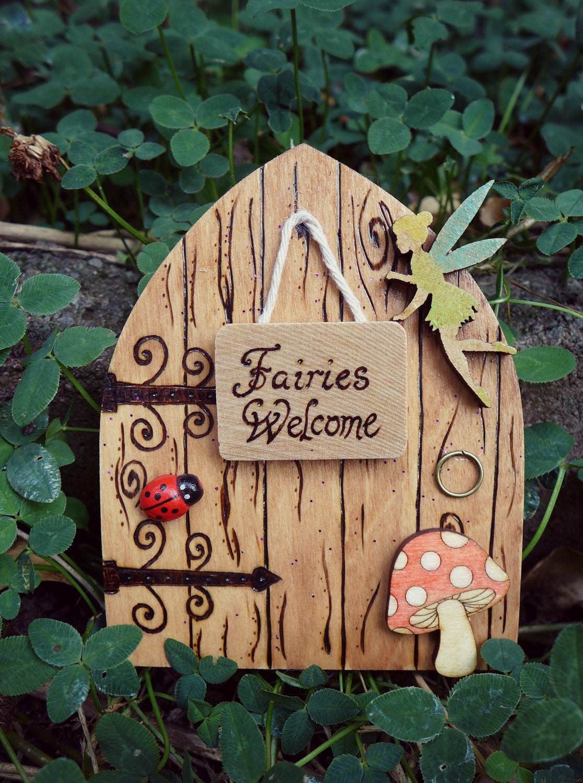 Magical fairy door fairies welcome for Fairy door with fairy