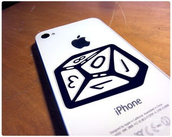 Dice decal of your favorite polyhedral die