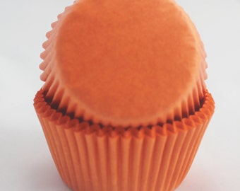 Bright Orange Cupcake Papers