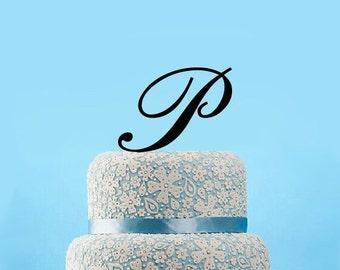 Letter p cake topper Etsy