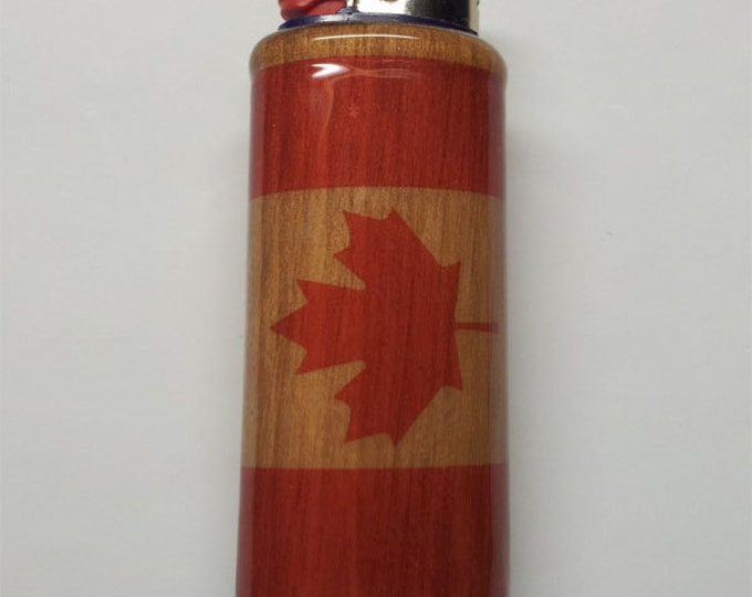 Canadian Flag Lighter Case, Lighter Holder, Lighter Sleeve