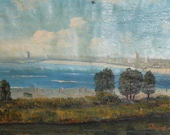 European art oil painting impressionist landscape signed