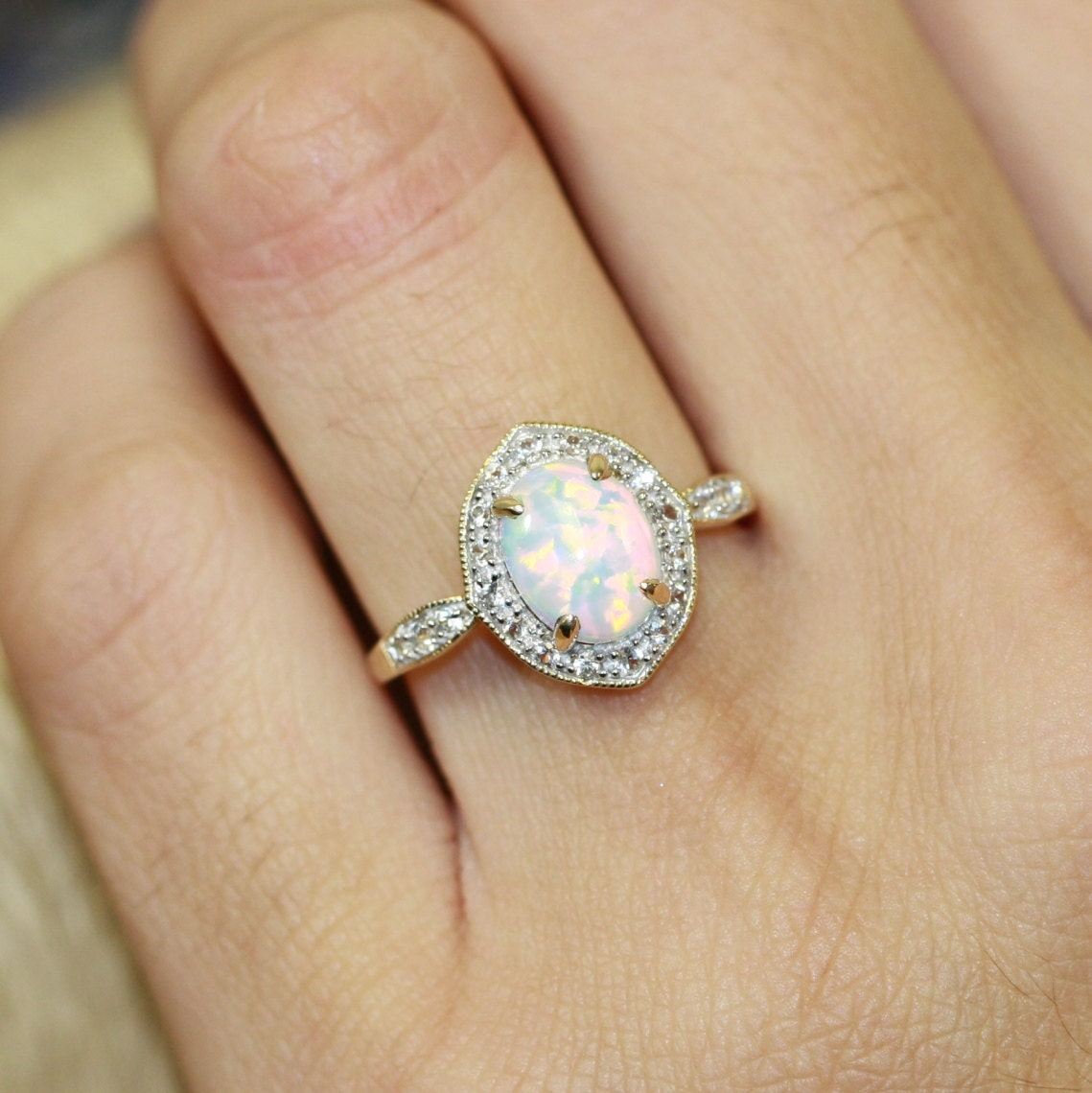 Opal Engagement Rings Vintage Inspired Opal ...