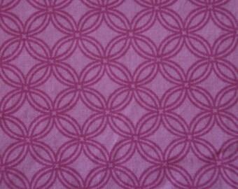 Baby Crib Sheet or Toddler Bed Sheet - Two-tone Pink Geometric Circles