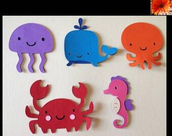 Sea Creature Paper Cut Outs