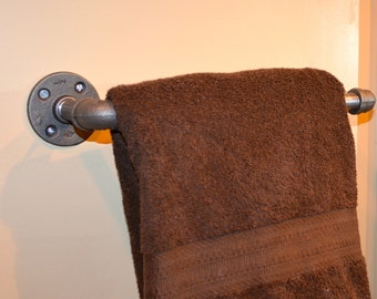 Industrial Pipe Towel Rack