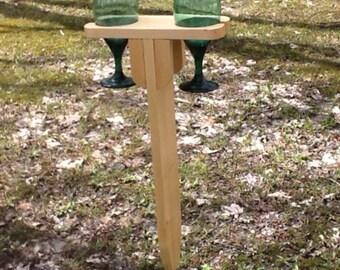 Wine glass yard stake