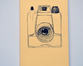 Camera Moleskine Cahier Notebook Journal . Lined pages . Large . Pastel . Yellow