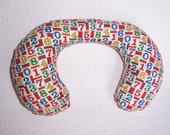 Baby Neck Roll Pillow with numbers.