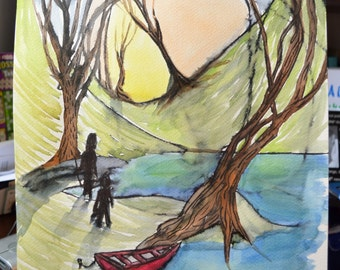 The Red Boat - Toddler Collaboration | ART PRINT