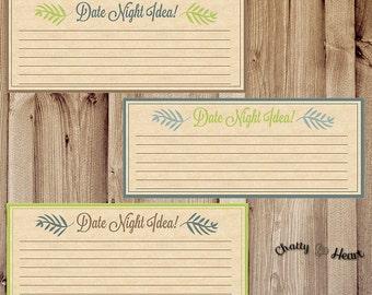 Date Night Idea Cards - Romance Card - Printable