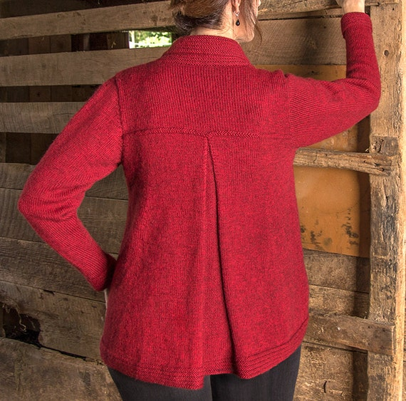 Knitting Pattern Swing Jacket : PDF Knitting Pattern Concord Top-Down Swing Coat #101 from SueMcCainKnitting ...