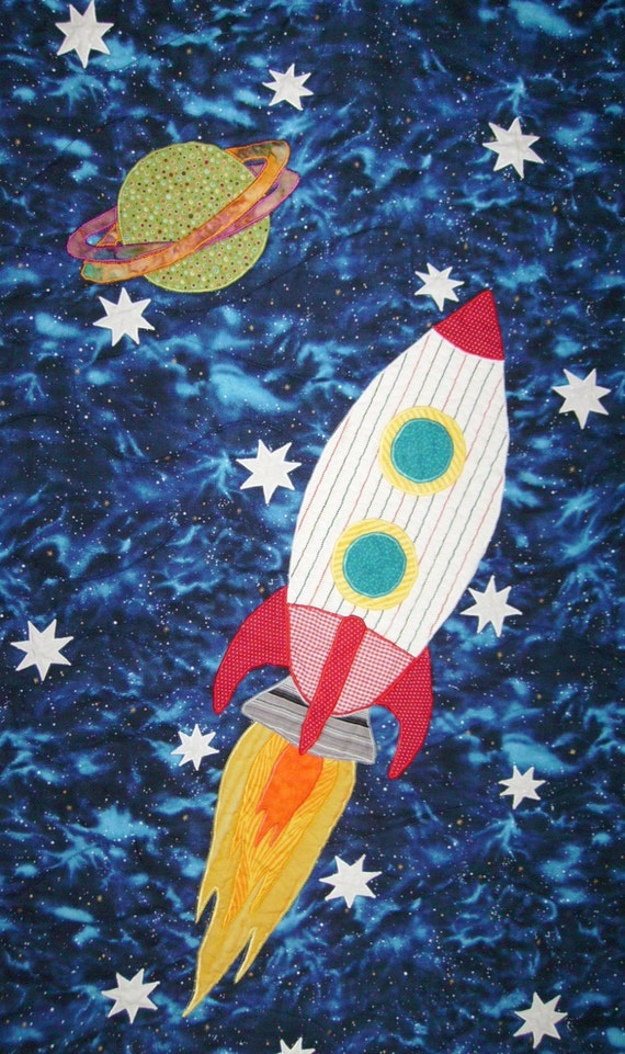 Outer space adventure full size quilt pattern for Outer space quilt patterns