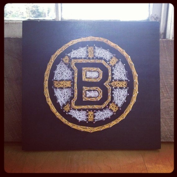 Boston bruins string art hockey decor bruins fan boston Bruins room decor