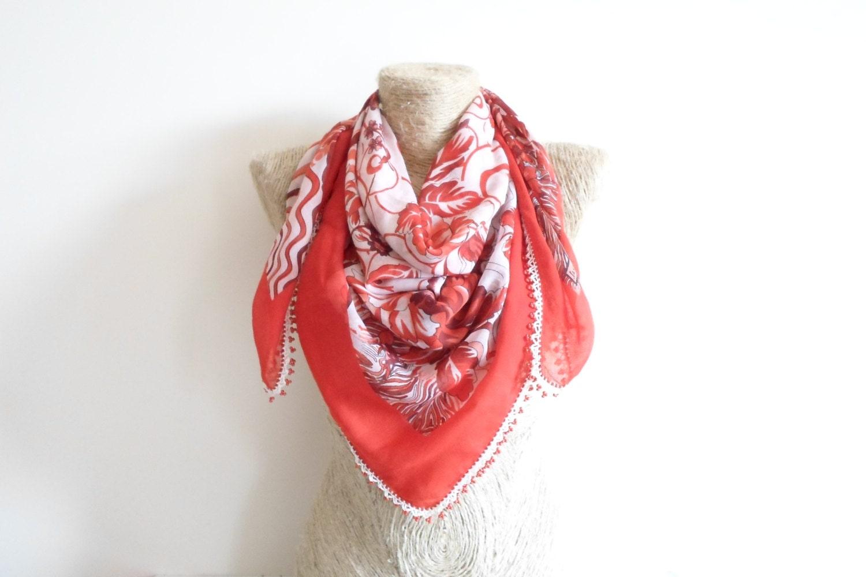 floral turkish scarf yemeni scarf gift belt by