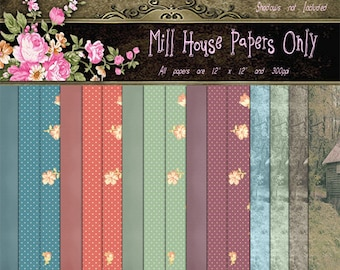 Mill House Papers Digital Papers Scrapbooking Papers