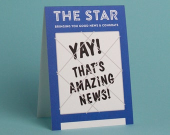Amazing News - Greetings Card
