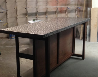 Grinded Stainless Steel Table