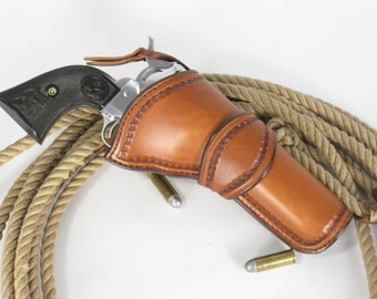 Handmade custom leather western style holster.