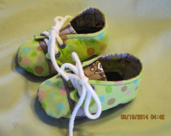 Baby Boy Fabric Sneaker Style  Baby Booties Item: 0002