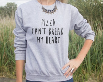 Pizza Can't Break My Heart Jumper Sweater Blogger Grunge Fangirl