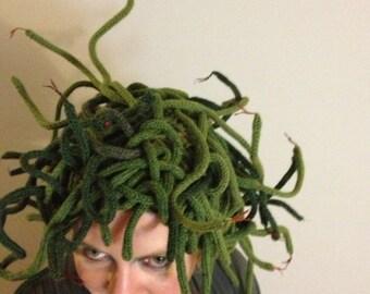 Medusa Knit Hat Pattern - Halloween Costume