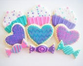 Cupcake Cookies, Birthday Party Favors for Birthdays, Recipe Parties, Girl's Night Out, Baby Showers - Made to Order decorated sugar cookies