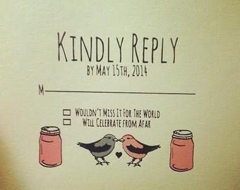 Love Birds reply card