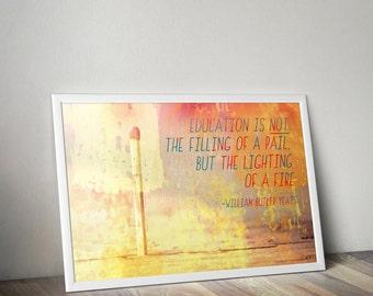 William Butler Yeats Education Quote