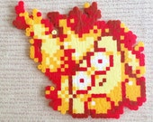 Kirby on Fire! Bead Sprite