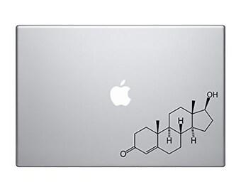 Testosterone Decal MacBook Pro Air Molecular Decal Molecule Decal