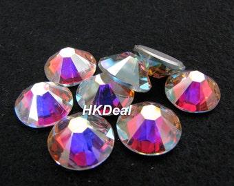 2058 ss40 Swarovski Elements Crystal AB 8.6 mm Flatback Rhinestones Nail Art Dress Decoration [12 pcs]