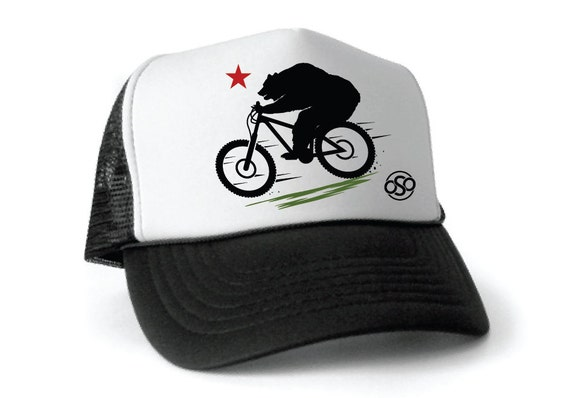 California Bear Mountain Biking Trucker Hat Enduro By 9c064a0cfb27