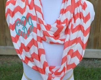 Personalized Chevron Infinity Scarf