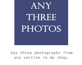 SPECIAL Any Three Photographs from any section in my shop, Discounted Print Price, Enlargements and art sets.