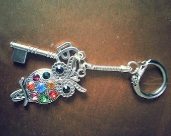 Super Cute Rainbow Owl Key chain