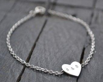 Personalised Heart Bracelet