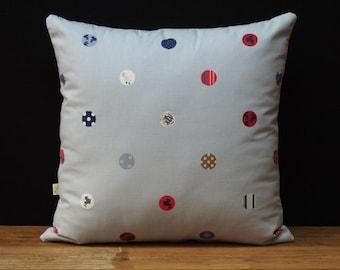 Buttons & Stripes Cushion