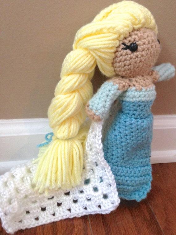 Crochet An Elsa Doll : Crochet Elsa Doll by YarnPossibilities on Etsy