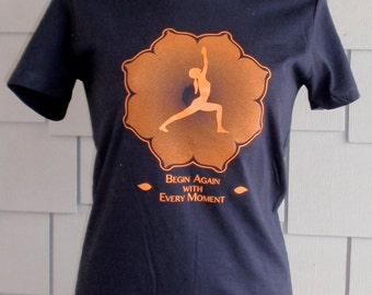 Yoga t-shirt Warrior 1 on Black