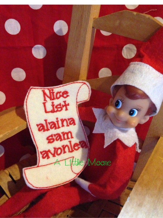 Elf on shelf Personalized The Nice and/or Naughty List