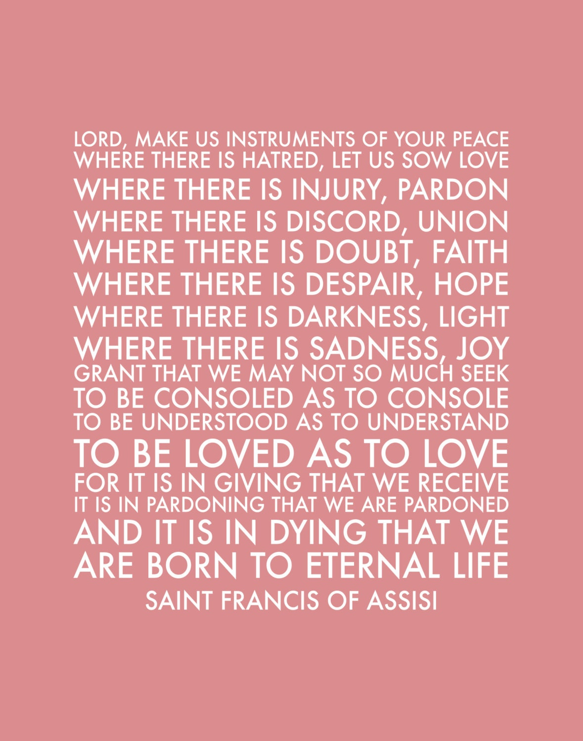 Printable St Francis Of Assisi S Prayer Print In Dusty