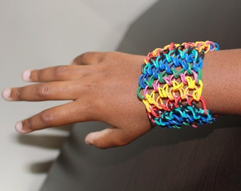 Dragon scale tin pin bracelet
