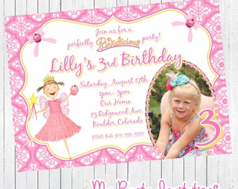 Printable, Pinkalicious Birthday Photo Invitation, Pinkalicious Birthday Party Invite, Personalized, Digital, Printing Available