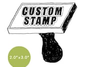 """CUSTOM Rubber Stamp - 2"""" x 3"""" - Logo, Business, Promotion Stamp 2x3"""