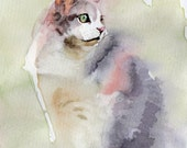 5x7 inch Custom Watercolor Pet Portrait