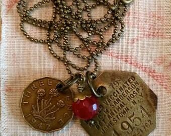 RESERVED- The Vintage Modern Dog Tag Necklace
