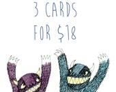 Bulk Card discount- You Choose 3 Cards for 18 dollars AU