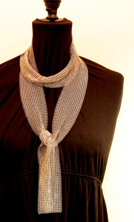 stainless steel mesh scarf or neckpiece
